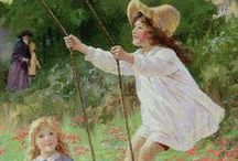 Girl on a Swing / the joy of a swing from childhood... / by BC Tapp