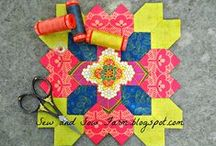Lucy Boston Blocks / I recently fell in love with English Paper Piecing. All of the Lucy Boston Blocks that I have created are done with traditional English Paper Piecing.