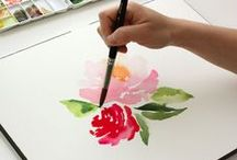 DIY: Watercolor Painting / In honor of our Wine & Watercolor class...check these pins out! If you can't make it to one of our great classes why not make one yourself at home? Wouldn't it make a great gift?