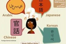 "Learning foreign language is fun! / ""Hearing a foreign language is like seeing a postcard from some other land"""