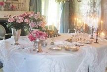 Silver , fine china, crystal and lace
