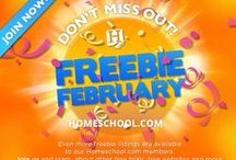 Freebie February / Freebies (200 +) for the month of February.  #Freebies #Homeschooling  / by Homeschool.com