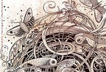 Zentangle-art N°2 / Zentangle-inspiration