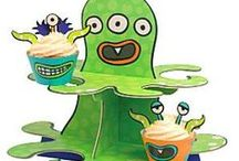 Pre: School: Monster Madness Party Supplies / A range of Monster Madness tableware and decorations which include napkins, plates, tablecover, cups, disposable cutlery, Platters, great for a Childs birthday party. Add this Monster Madness partyware to any coloured party supplies and create the perfect theme.