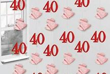 Anniversary: 40th Ruby Wedding Anniversary Party Supplies / See our range of 40th Ruby Wedding Anniversary party supplies, from cake toppers, table decorations, 40th Ruby wedding tableware, 40th Ruby wedding banners & balloons plus favour gift ideas.
