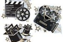 Hollywood Movie party Supplies and Decorations / Make you own oscar night and select from a massive range of film themed decorations. Hollywood Movie Tableware and Decorations. Make it a night to remember.