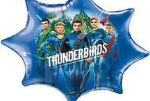 Boys Party: Thunderbirds Party Supplies / A range of Thunderbirds tableware which include coloured napkins, plates, Thunderbirds tablecover, cups, disposable cutlery, Plastic Compartment Plates, Platters, great for your childs Birthday Add this Thunderbirds partyware to any idea and create the perfect themed party.