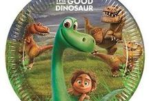 Pre-School: The Good Dinosaur Party Supplies / This exciting range of The Good Dinosaur themed tableware, table covers, plates, napkins, cups, party loot bags is perfect for young children, especially 1st birthdays! This cute party theme is packed full of decorations and supplies  everything you need for a Good Dinosaur themed party
