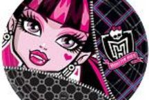 Monster High Party Supplies / A range of Monster High tableware which include coloured napkins, plates, Monster High tablecover, cups, disposable cutlery, Plastic Compartment Plates, Platters, great for your childs Birthday Add this Monster High partyware to any idea and create the perfect themed party. Also see the fancy dress collection to this theme