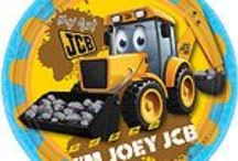 Pre-School: My 1st JCB Party Supplies / A range of My 1st JCB tableware and decorations which include napkins, plates, tablecover, cups, disposable cutlery, Balloons, Platters, great for a childs themed party. Add this My 1st JCB partyware to any coloured party supplies and create the perfect theme.