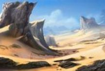 The Sands of Athla Mood Board / A mood board for The Sands of Athla RPG production.