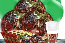 Boys Party: Avengers Party Supplies / A range of printed colour Avengers Tableware which includes napkins, plates, table cover, cups, cutlery in a variety of designs.  Great for kids parties to create the perfect themed party.