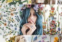 flower romantic provencal  style / interior styles