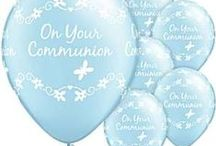 Special Occasion: Communion Blue Blessing / Communion Blessing Blue Party Supplies   A range of Communion Blessing Blue tableware and decorations which include napkins, plates, tablecover, cups, disposable cutlery, Party Balloons, Platters, great for a themed party. Add this Communion Blessing Blue partyware to any coloured party supplies and create the perfect theme.