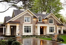 EXTERIOR / Exterior ideas for the home, brick, siding, paint colors / by Erin Carroll @ Blue-Eyed Bride