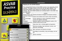 ASVAB Practice For Dummies / Everything you need to pass the ASVAB exam or improve your score – in an App! Currently, the only App of its kind in the store! Do not take the ASVAB test without practicing.  The ASVAB (short for Armed Services Vocational Aptitude Battery) is unlike any test you've ever taken. Sure, the text covers standard academic areas, such as math and English, but it also measures your knowledge of other areas, such as mechanics, electronics, science, and assembling objects.
