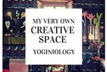 creative space {yoginiology} / a pretty space should not go to waste... get 'er done, boss lady!