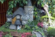 LLL Houses & Castles for Miniature Gardens / Miniature houses and castles for miniature gardens. Fairy Gardens, Mini Gardens, Gardening.  / by Lush Little Landscapes