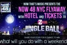 Journey to Jingle Ball! / Revisit the NOW star-studded moments from Z100's annual holiday concert in NYC as we prepare for this year's event on December 13. Want to win roundtrip airfare with hotel and tickets to Jingle Ball 2013 at Madison Square Garden? Tell us what you will do with a weekend in NYC for a chance to win at http://smarturl.it/NYCflyaway!  / by Now That's Music!
