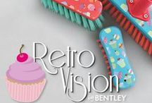 Retro Vision / Bentley's cheerful retro vision range truly refreshes the standard wooden brushware category. Providing something a little out of the ordinary this is the perfect mix of traditional and modern. Traditional products with a modern print… Bentley's exclusive designer patterns. First in the series is the delightful cupcake print.
