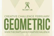 Geometric / Join The Craft Lab on a creative challenge! Are you spending too much time in front of the computer and want to get in touch with your creative side? We would love it if you joined us our 12-month creative challenge! We will post a theme each month and you can participate using whichever discipline you choose.