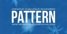 Pattern / Are you spending too much time in front of the computer and want to get in touch with your creative side? We would love it if you joined us our 12-month creative challenge!  We will post a challenge each month and you can participate using whichever discipline you choose.