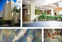 Hotel Mosaics / Custom Artaic mosaics in hotels around the world.
