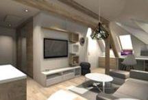 PROJEKT MAŁEGO MIESZKANIA TYPU STUDIO / Projekt aranżacji mieszkania utrzymany w jasnej kolorystyce.