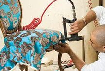 re upholster/slipcoveres and uph paint / by Anne Haley