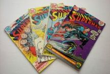 Superman, Superboy, and Comic Book Craft Ideas  / What will come first - sell them intact or upcycle them for art projects?  If they're still here and you want them, let me know! / by Em Hale