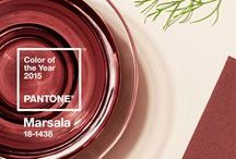 Marsala | Pantone Color of the Year 2015 / Celebrating the understated beauty of marsala, which was announced Pantone color of the year 2015 Join the fun by pinning beauty looks and products - marsala (or close to that).