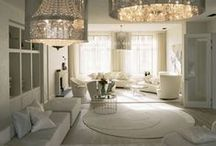 Glamorous All White Interiors / Favorite all white pieces and inspiration pics of stunning all white furniture & decor <3  Visit VanityMirror.co for many of these items!