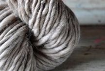 Chunky hand-spun wool / drooling over the beautiful texture of softly, handspun wools.