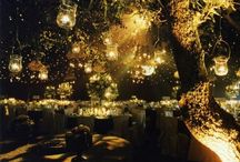 Magical tables and party decorations.
