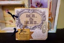 "CCB Wedding / Say ""I do"" to his, hers and ours wedding themed cards, scrapbook layouts, keepsakes, and decor from the Canvas Corp Brands Creative Crew. Canvas Corp 7gypsies, Tattered Angels"