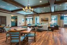 Oakmont Residential Clubhouse Gainesville, FL / SJID provided the interior design specifications, finishes and contract drawings for the Residents Club including flooring, wall finishes and details, fireplace materials, custom cabinetry, quartz counter tops, and decorative lighting. The firm also provided interior and outdoor furnishings well-suited for the upscale lifestyle the community offers. See more  http://sislerjohnston.com/press-release/2016/07/sisler-johnston-interior-design-completes-residents-club-at-oakmont-community.aspx