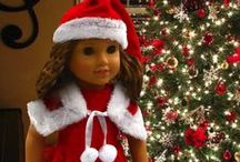"CHRISTMAS DOLLS / Christmas Dolls, 18"" doll Christmas Clothes and More. Fits American Girl Dolls."