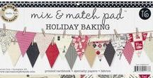Holiday Baking Mix & Match Pad / Inspirational ideas for using Canvas Corp's Holiday Baking themed Mix & Match Pad. https://shop.canvascorpbrands.com/products/mix-match-pad-holiday-baking