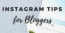 Instagram Tips For Bloggers / Need tips on how to grow your Instagram?  This board is for you then.  Get more Instagram followers | Instagram photography tips
