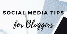 Social Media Tips for Bloggers / Need help with your social media strategy?  These social media tips for bloggers will help with grow your social media, provide you with Instagram tips, Twitter tips & tips on Facebook
