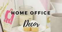 Home Office Decor / Home office - Design Ideas - Home Decor - Organization