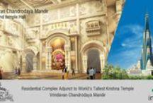 Krishna Lila Theme Park / Krishna Bhumi is a grand temple township in Vrindavan that offers world class living spaces surrounding the world's tallest Krishna temple.