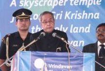 President's visit at the Vrindavan Chandrodaya Mandir / The Hon'ble President of India, Shri Pranab Mukherjee on occasion of Ananta Shesha Sthapana Puja at the Vrindavan Chandrodaya Mandir