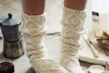 SOCKS / All You need is Tea and Warm Socks .