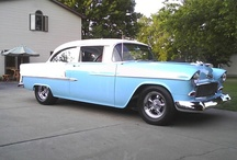 My 1955 Chevy & Likes 1956-1957 Shoe Boxes / I wish I Had all My Rides from Back in the Good Old Days I had So many I Would be Super Rich Today. Now 1955 chevy & 1990 Pontiac Grandprix has been longest cars I still have Both Today,1955 chevy had for over 26 Years Now and the Paint Job Still Looks Good painted 26 Years Ago,  The Key is !! Keep it out of the Sun as much as Possible!!!  / by Nick Chicone