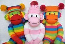 DIY Sock Bunny, Monkey, Teddy