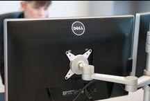 Monitorhalterungen / Hier werden Monitorhalterungen und Schwenkarme vorgestellt