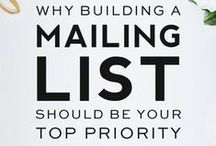 Email List Building / Email list building tips to grow your business.  email list, audience, growth, build, grow, subscribers, subscribe, email marketing, marketing, money, launch, make money online, work from home