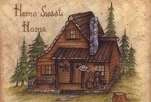~**Wee Cabin in the Woods**~ / Just imagine... / by Sharon Russell
