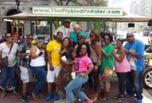 #GetPickledIndy / These folks are having fun and getting pickled in #Indy!  Want to get pickled in Indy? Book your tour here: https://thepickledpedaler.rezdy.com/